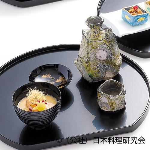 餅粟葛豆腐、鮭塩麴漬