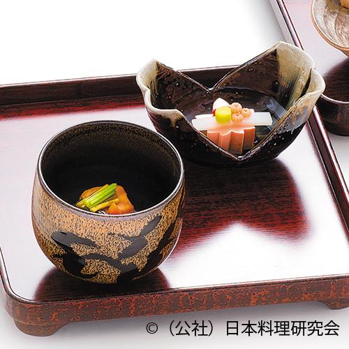 紅葉豆腐、山葵餡仕立、伊豆天子昆布〆