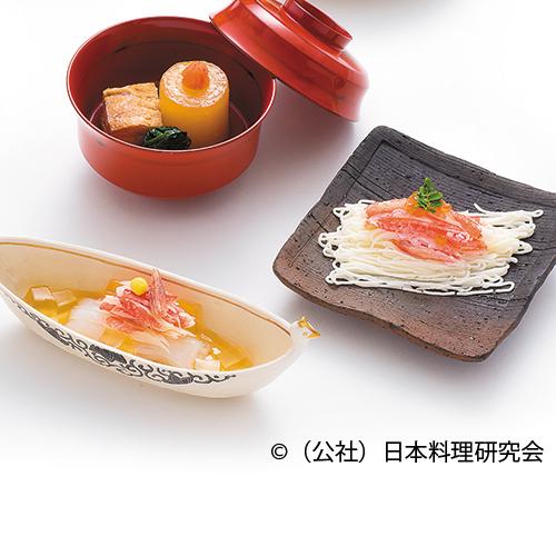 毟蟹、烏賊素麺毟蟹のせ
