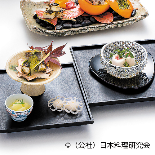 岩魚おから巻繊巻、群馬の虹鱒、蓮根芋寿司
