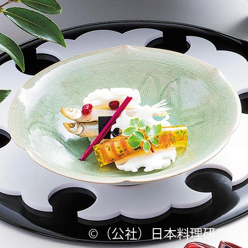 巻海老檸檬羹、公魚石榴酢漬