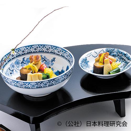 牛蒡鴨印籠詰め、蕪サフラン煮、里芋旨煮、早掘り筍、京人参、壬生菜