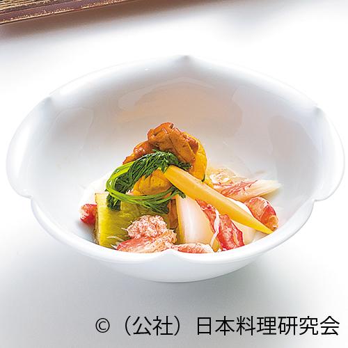 雲丹・人参・パプリカ茶巾