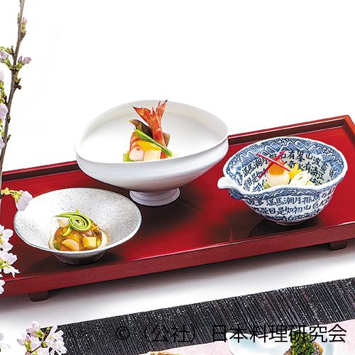 春野菜ゼリー寄せ、蓬胡麻豆腐