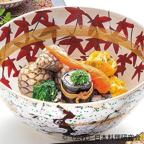 鰊昆布巻、海老芋、飛龍頭