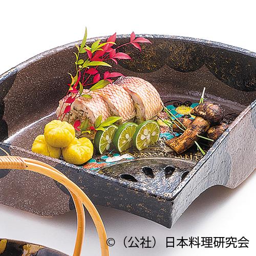 甘鯛湯葉巻繊焼、名残松茸