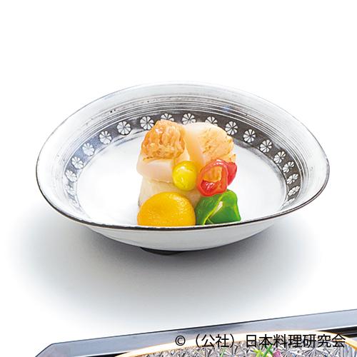 海老芋阿蘭陀、帆立貝炙り、万願寺素揚、海鼠子