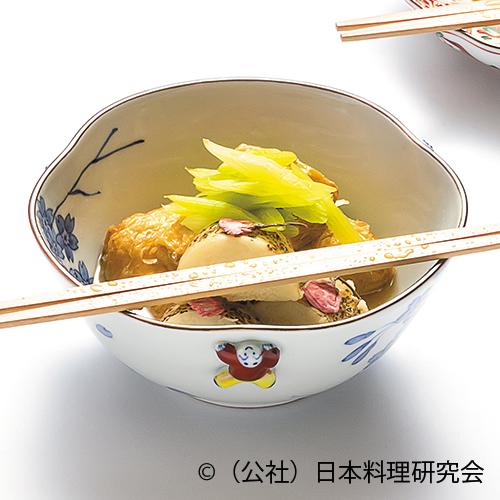 穴子湯葉包み、長芋桜煮、蕗