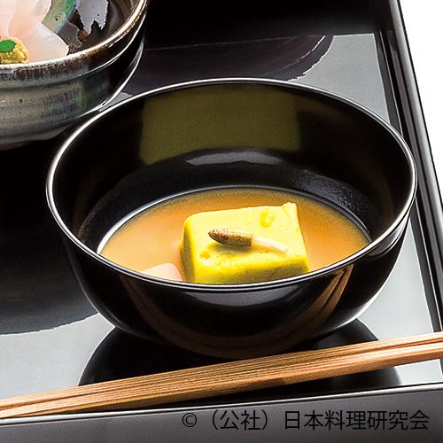 袱紗味噌仕立、青豆豆腐