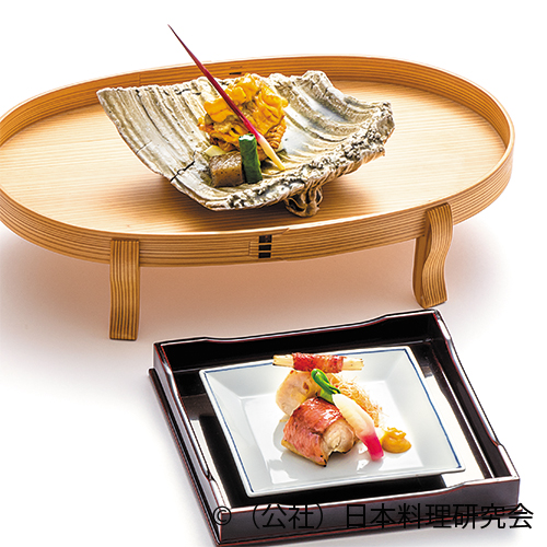 金目鯛海老香焼、鮎魚女吉野焼