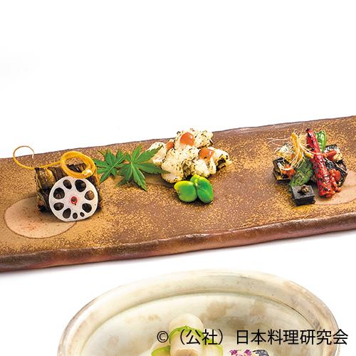 鰯もろみ焼、穴子八幡巻、焼鱧梅醤油