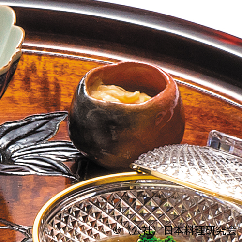 袱紗仕立( ジュレ風)、汲み湯葉