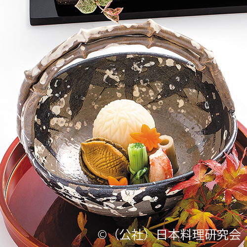 菊花蕪、鮑柔煮