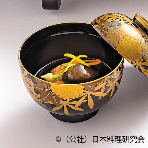 焼目甘鯛、慈姑餅木の葉見立