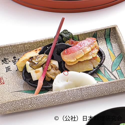 西京味噌麹漬、稲取金目、伊豆産原木干椎茸、牡蠣、葱