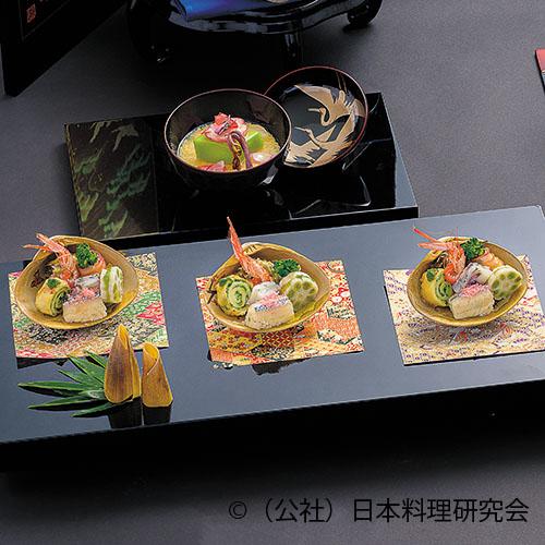 桜鯛・菜の花 林檎千段巻、鳴門若筍、斗し桜百合根、針魚菜寿司、鴬蓮根、ながらみ 春の香り揚 、鉄砲海老艶煮