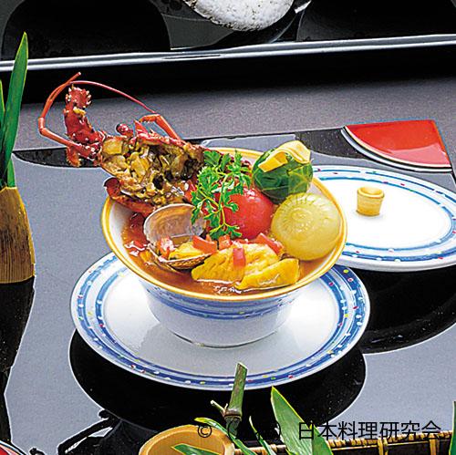 海鮮赤茄子仕立 、房総海美、浅蜊