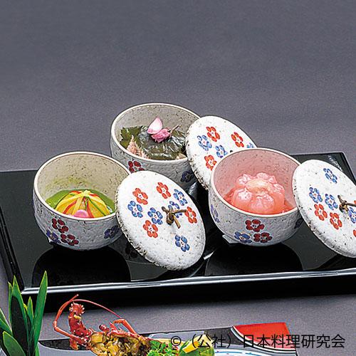 桜花蕪 、甘鯛桜蒸し 、手毬馬鈴薯