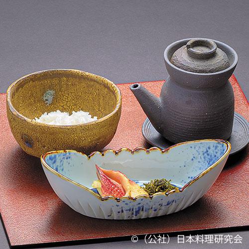 北寄貝八女茶オイル焼、八女茶割出汁茶漬