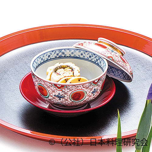 鮎魚女巻繊、鼓筍、蚕豆