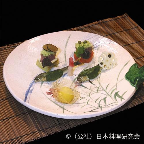 鮎蓼焼、牛山葵焼、賀茂茄子フォアグラ焼