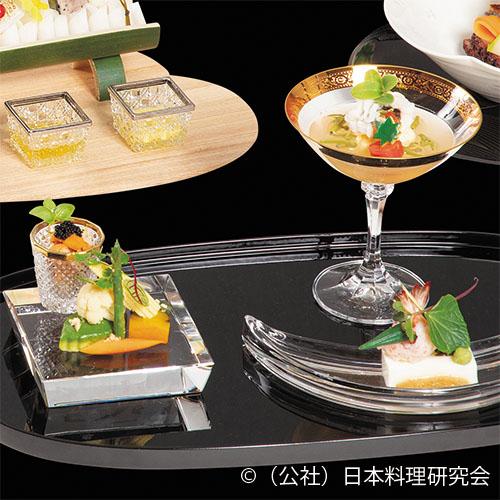 クリームチーズ葛豆腐、三浦玉子(冷製スクランブルエッグ)、夏野菜替わり膾塩麴蜂蜜漬
