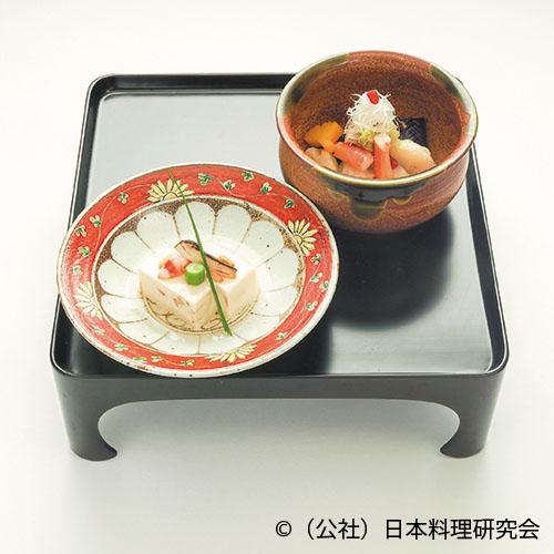 松茸豆富、蕪・茄子・蓮根丸十・魳・蟹